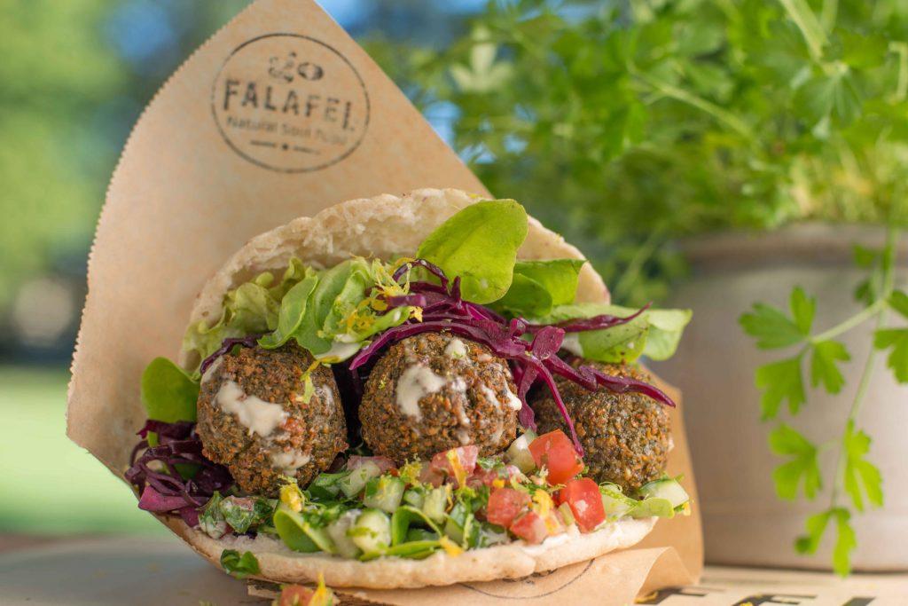 Falafel Pita Detail